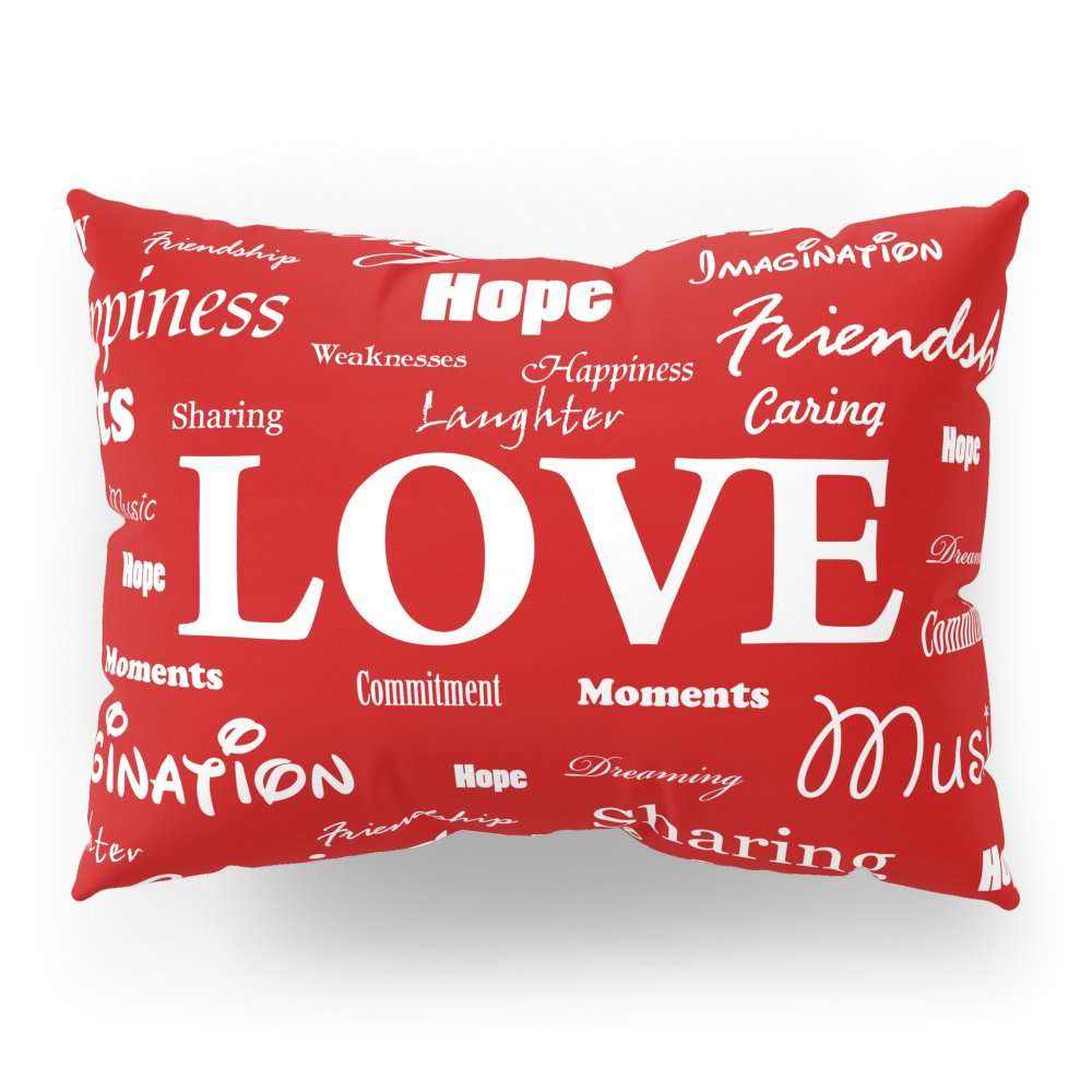 Society6 Love Is Red & White Pillow Sham Standard (20'' x 26'') Set of 2