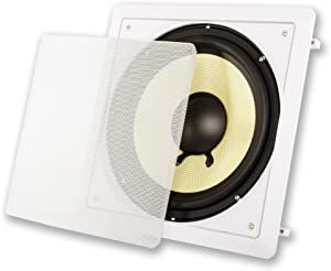 """Acoustic Audio HDS10 in Wall 10"""" Home Theater Passive Subwoofer Speaker"""