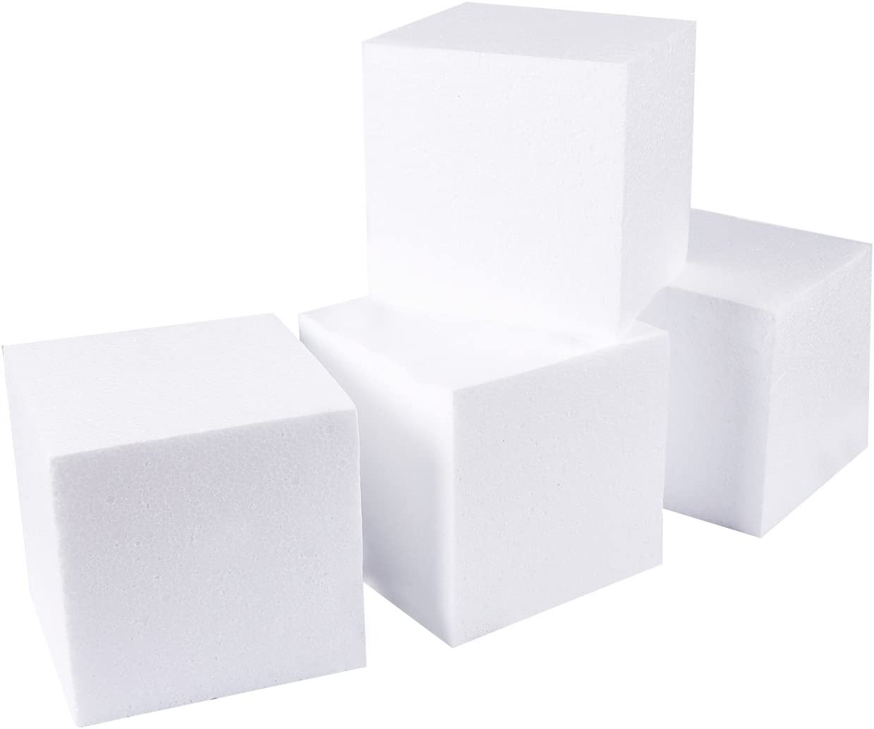 Foam Cubes, Arts and Crafts Supplies (6 x 6 x 6 in, 4-Pack)