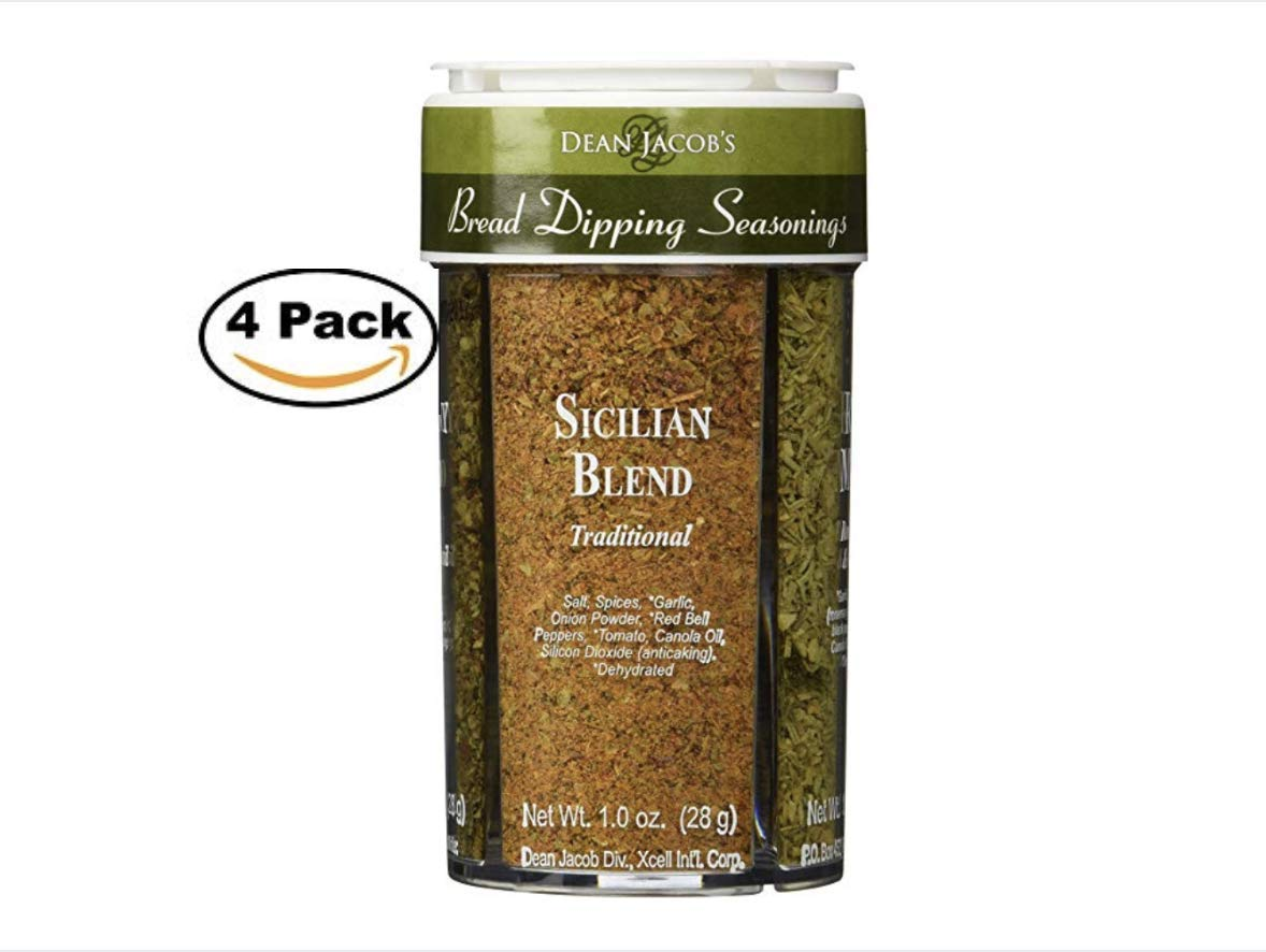 Bread Dipping Seasonings - Dean Jacob's 4 Spice Variety Pack (4 Pack)