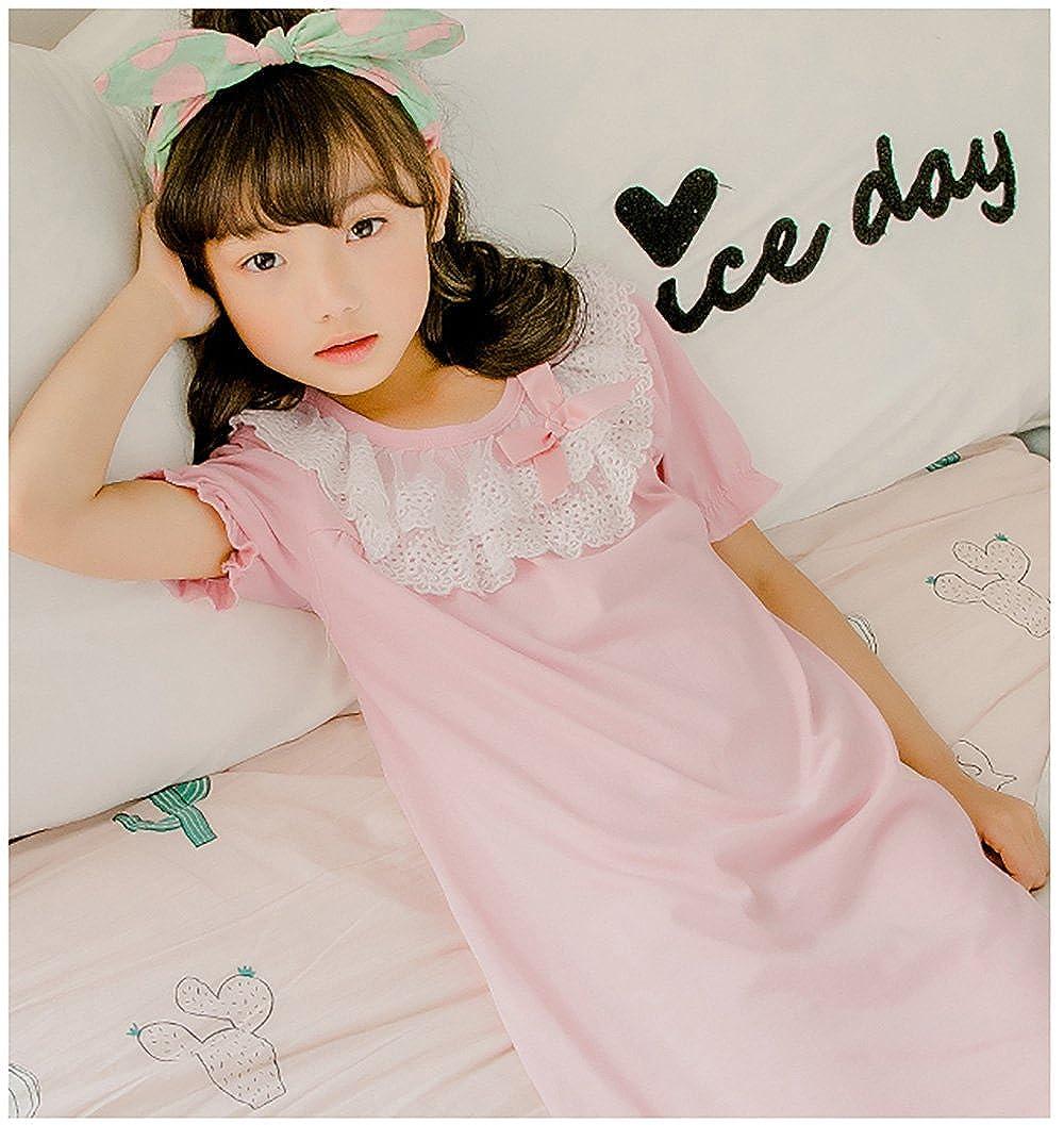 Zegoo Girls Cotton Nightgown Lace Sleepwear