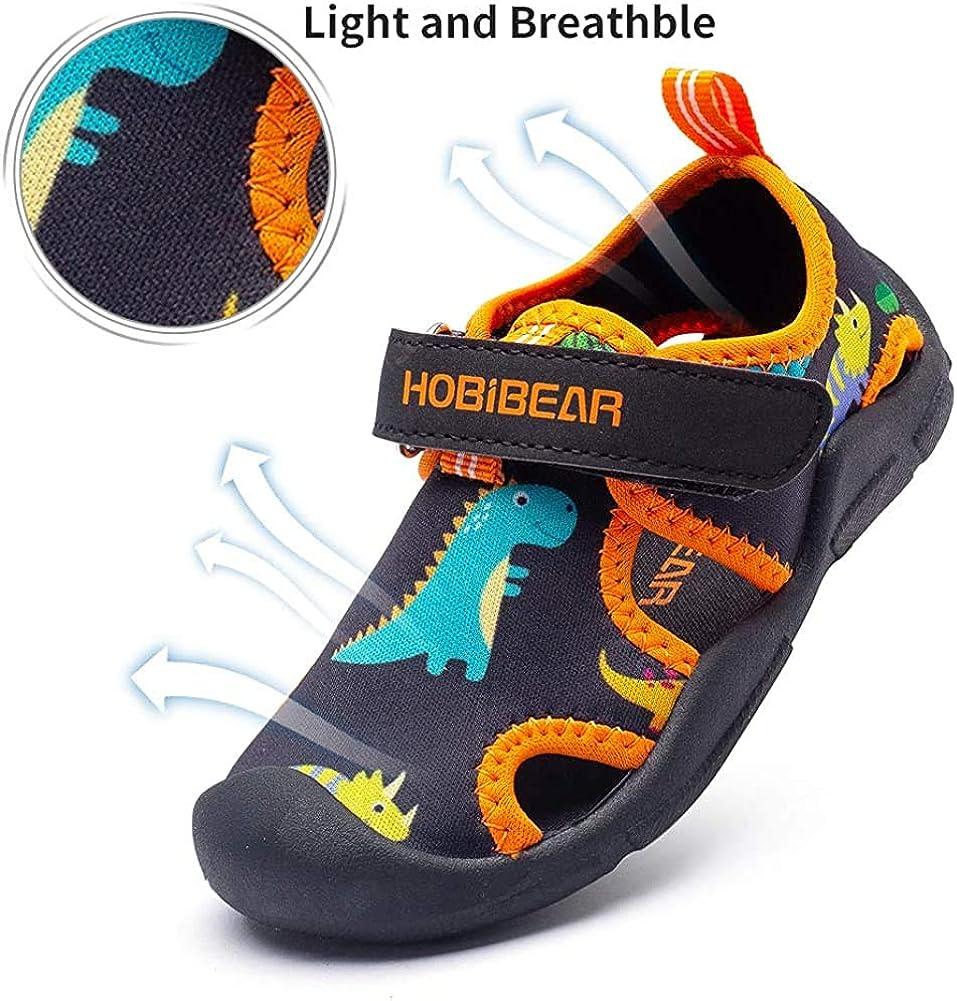 GUFANSI Kids Boys Girls Water Shoes Lightweight Quick Dry Closed-Toe Aquatic Outdoor Sport Summer Sandals Toddler//Little Kid