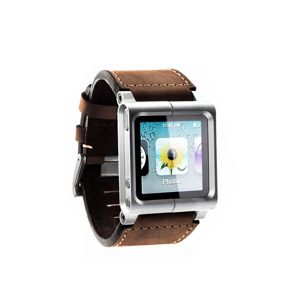 281daba274218 Alienwork Pod2Watch bracelet de montre pour iPod nano 6 band Kits Aluminium  brun AN608-02