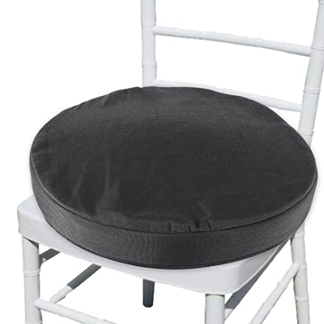Magnificent Welcomefee Waterproof Chair Seat Cushions Pad With Ties 36Cm Water Resistant Round Bistro Chair Seat Pads Removable Cover For Indoor Outdoor Kitchen Cjindustries Chair Design For Home Cjindustriesco