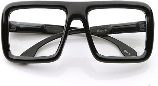 CLEAR LENS GLASSES Bold Frame Retro Nerd Cool Smart Eye Glasses