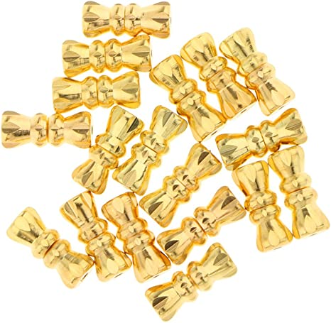 Silver or Gold Colour Screw-On Clasp for Necklaces 18 x 3.5 mm Brass Barrel Screw Clasp