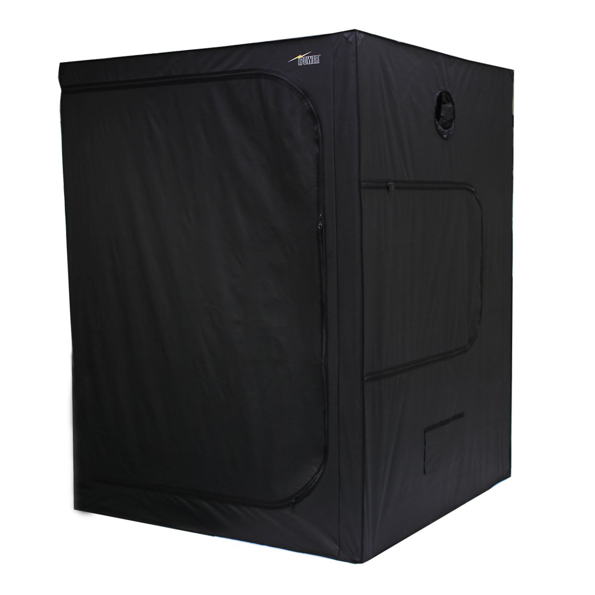 iPower 60''x60''x80'' Hydroponic Water-Resistant Grow Tent with Removable Floor Tray for Indoor Seedling Plant Growing 5'x5'
