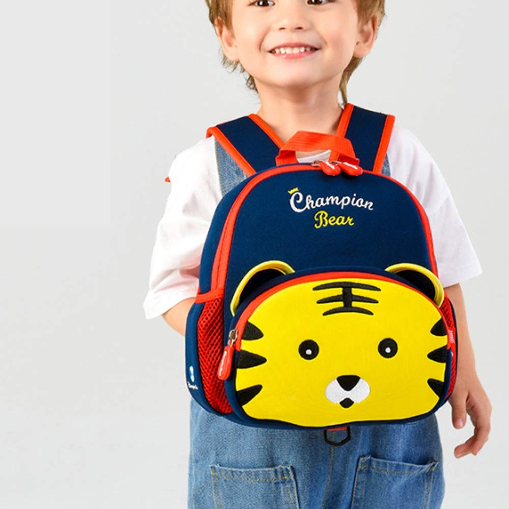 QWEER Anti-Lost Shoulder Bag Diving Material Anti-Lost Bag Kindergarten Boys and Girls 1-3-6 Years Old Cute Little School Bag Children Backpack Soft Breathable Large Capacity Design by QWEER (Image #4)