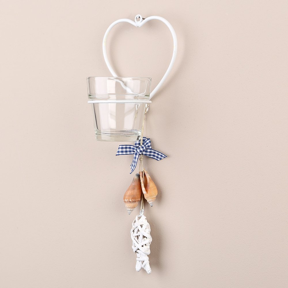 amazoncouk candle sconces home  kitchen - tobs hanging glass tea light candle holdersconce  single white heart