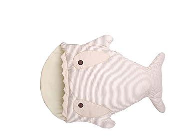 Deporte Hacer infantil cartoon café tiburón Pinstriped saco de dormir invierno otoño recién nacidos Anti-Kicking cálido Abrazando edredón Bebé Algodón Puro ...