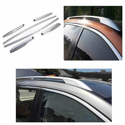 Rieles portaequipaje de aleación plateados para techo MotorFansClub para Nissan Rogue X-Trail 14/16