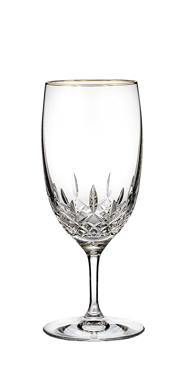 Waterford Lismore Essence Gold Stemware Iced Beverage Glass Waterford Crystal 155975