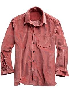 4acf73e870b Chellysun Mens Corduroy Shirts Button Down Standard Collar Regular Fit  Pocket Flannel Shirt