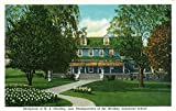 Hershey, Pennsylvania - Exterior View of M.S. Hershey Birthplace, HQ of the School (36x54 Giclee Gallery Print, Wall Decor Travel Poster)