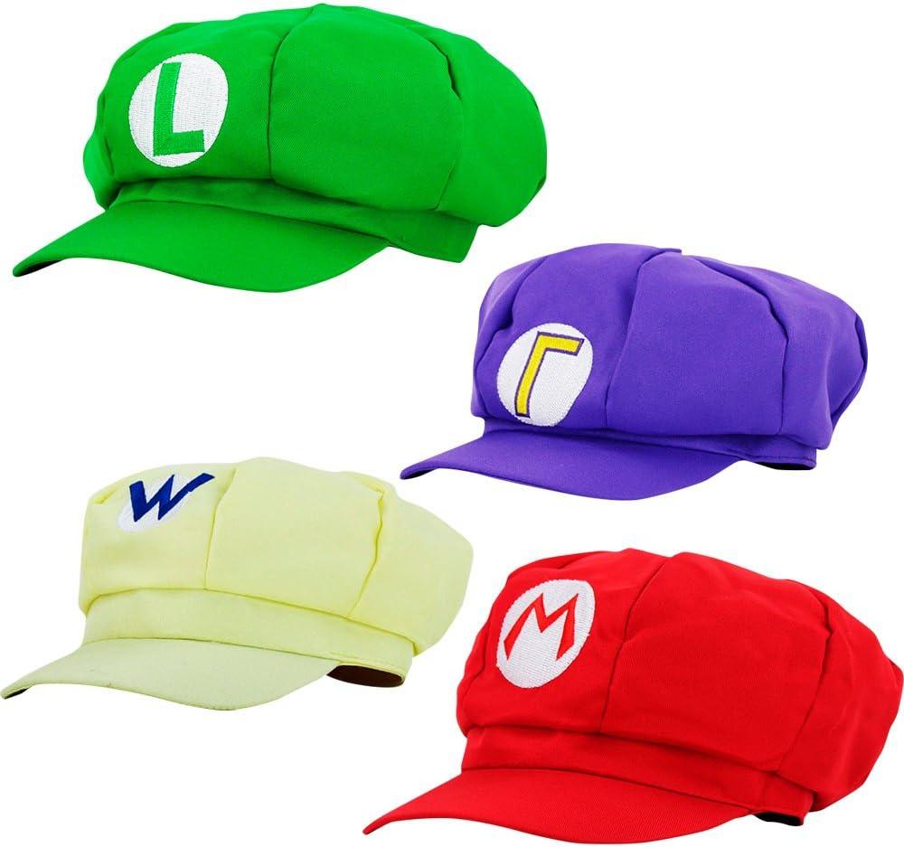 thematys® Super Mario Gorra Luigi Wario Waluigi - Disfraz de ...
