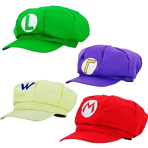Super Mario Gorra Luigi Wario Waluigi - Disfraz de Adulto y Niños Carnaval  y Cosplay - Classic Cappy Cap  Amazon.es  Juguetes y juegos 14c156aca6d