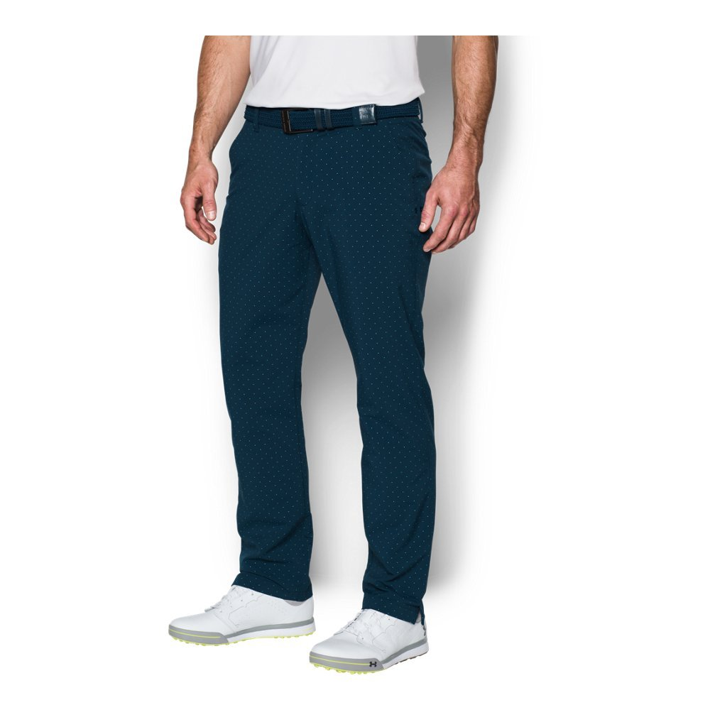 Under Armour Men's Match Play Tapered Houndstooth Pants,Academy /Academy, 30/32