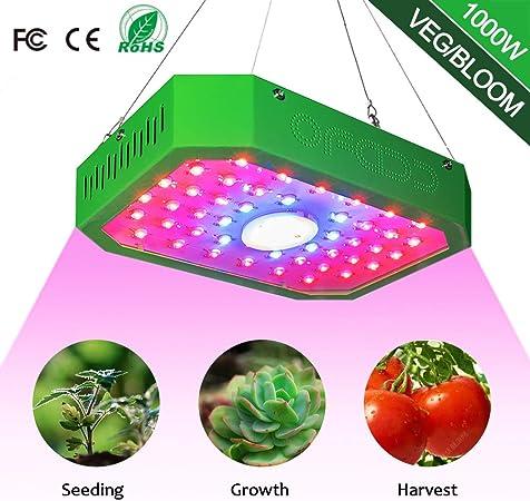 Amazon.com: Luz LED de 1000 W para cultivo de plantas ...