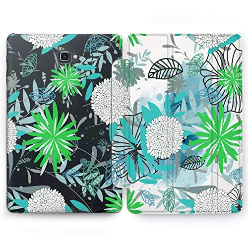 Wonder Wild White Asters Samsung Galaxy Tab S4 S2 S3 A E Smart Stand Case 2015 2016 2017 2018 Tablet Cover 8 9.6 9.7 10 10.1 10.5 Inch Clear Palm Tree Different Flowers Bouquet Floral Nature Pattern ()
