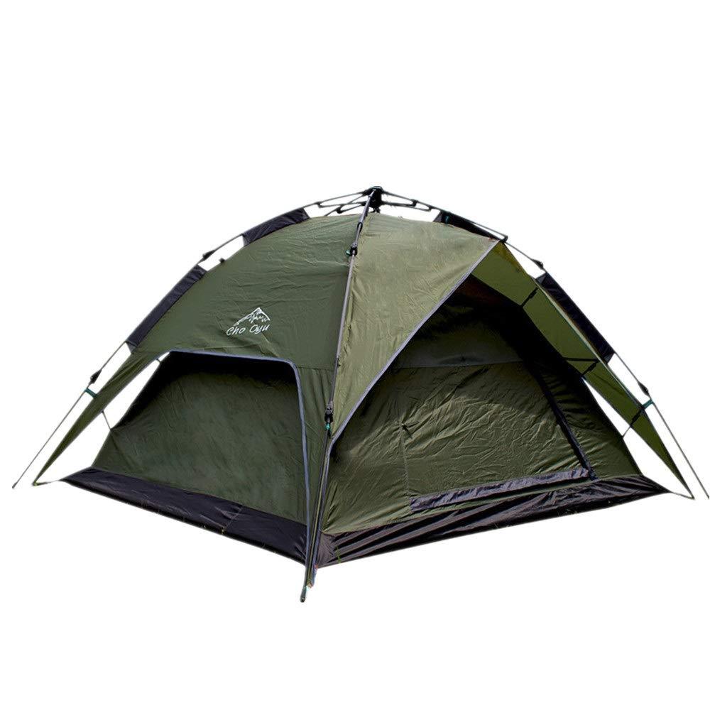 ワンタッチテント 屋外のキャンプテント3-4人引きロープ自動テント無料で反ストームキャンプテントを構築する 超軽量 通気性抜群 2-3人用 (色 : 緑, サイズ : 200cm*190cm*130cm) 200cm*190cm*130cm 緑 B07RK699P6