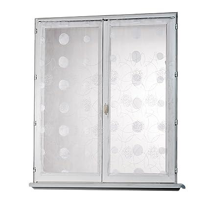 Tende A Vetro 45 Cm.Homemaison Hm69812818 Tenda A Vetro Dritta In Organza