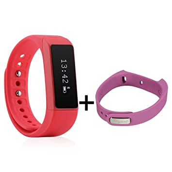 Elegiant Pulsera Inteligente Impermeable, Reloj Bluetooth I5 Plus Deportiva con Pantalla Táctil, Podómetro, Pulsera de Venda,Seguimiento Calorías, ...