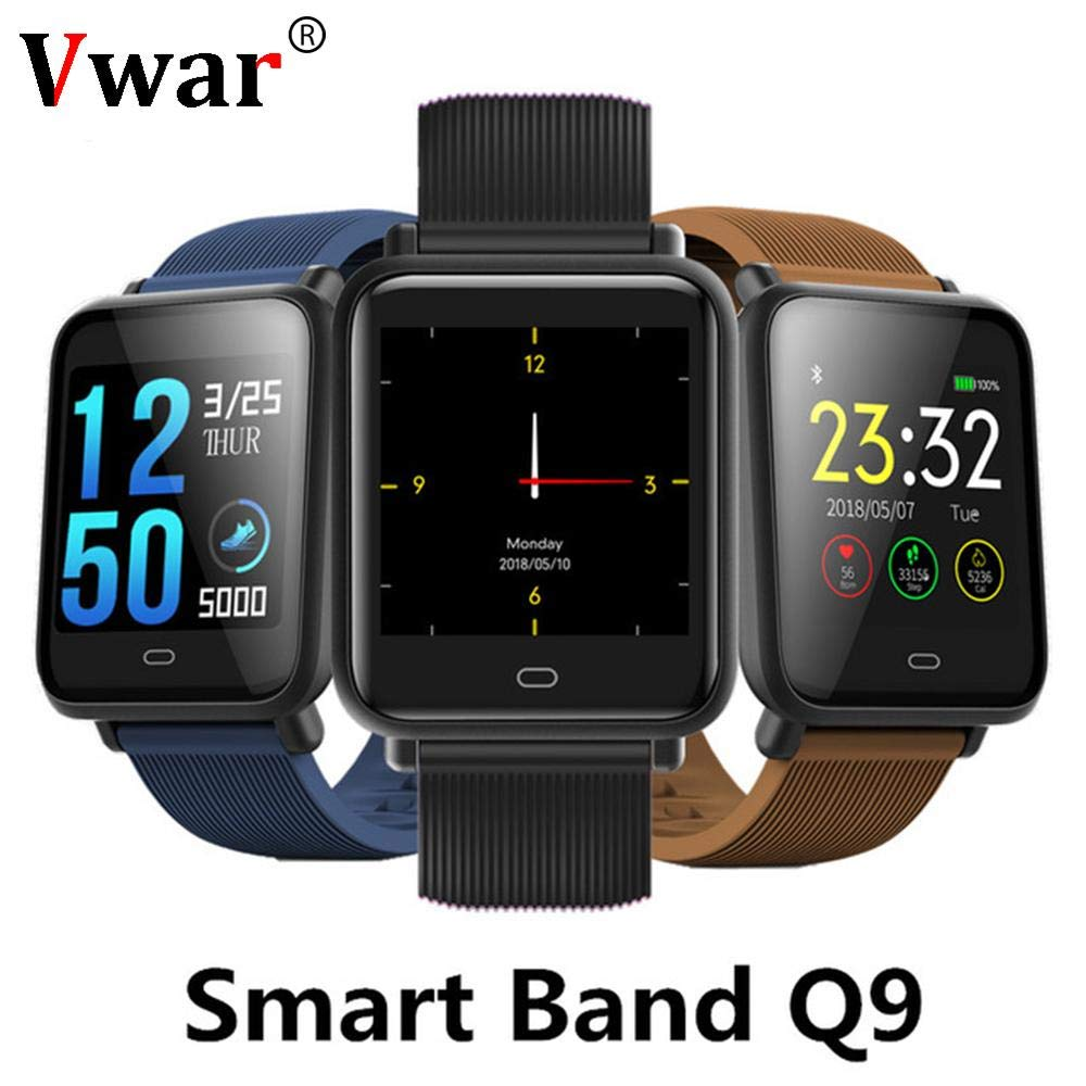 Amazon.com: Q9 Blood Pressure Heart Rate Monitor Smart Watch ...