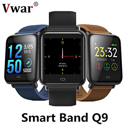 Amazon com: Q9 Blood Pressure Heart Rate Monitor Smart Watch