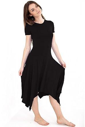 MA Online New Womens Long Hanky Dress A line Long dresses UK Plus Sizes (8