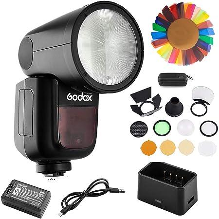 Godox V1-F with PERGEAR Filters Kit for Fuji