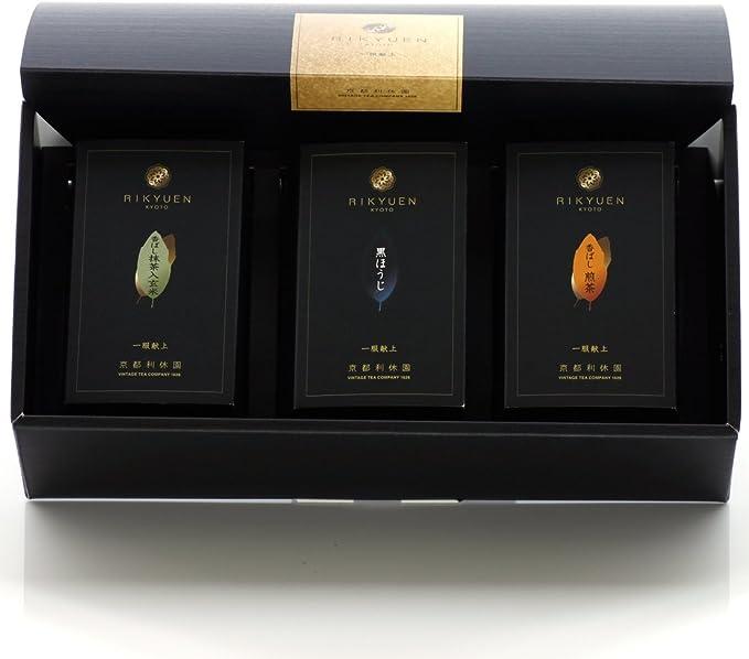 香ばしいお茶3種詰め合わせ 香ばしいお茶3種詰め合わせ お歳暮 黒ほうじ・香ばし煎茶・香ばし抹茶入り玄米茶 item-kohbashi-3set