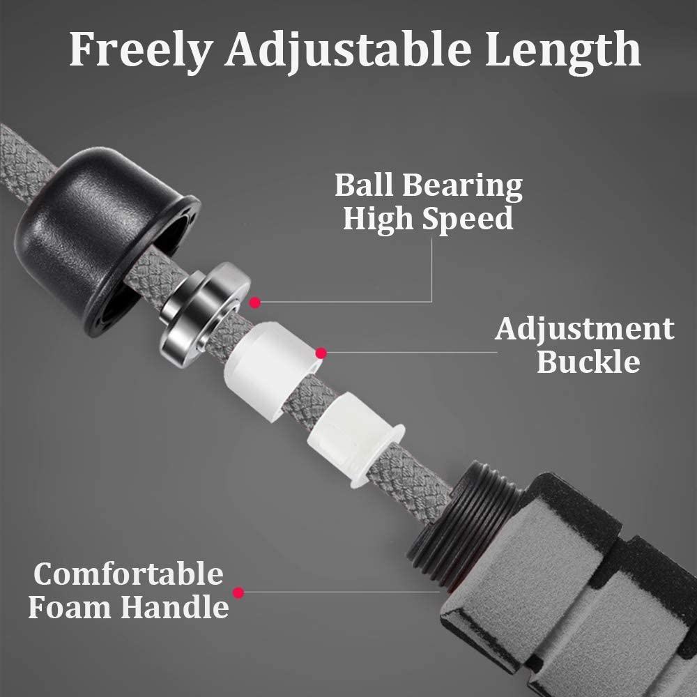 Weighted Jump Rope Workout Heavy Extra Thick Bold Adjustable Skipping Rope with Speed Ball Bearing Non-Slip Handle for Women Men Kids Professional Crossfit Training Cardio Endurance Fitness Exercise