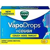 Vicks VapoDrops + Cough Honey Lemon Menthol 36 Cough Lozenges