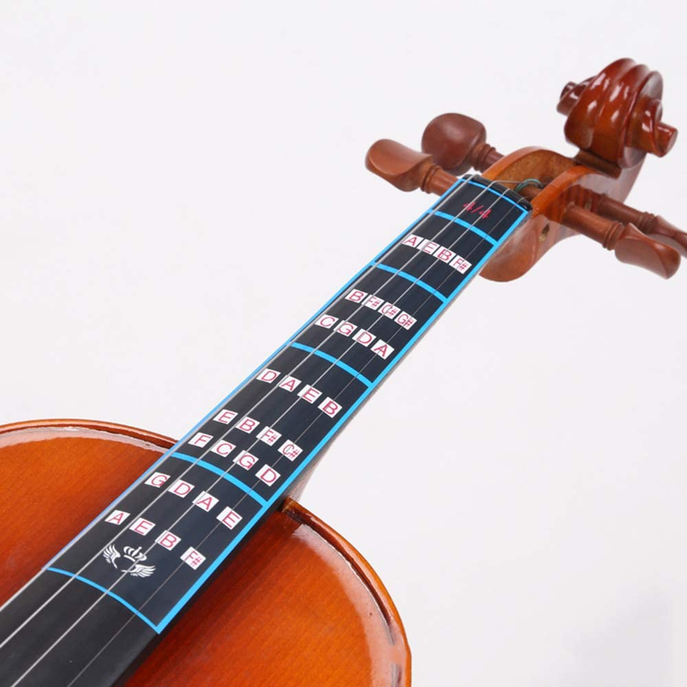 Violin Fingerboard Chart Stickers Fingering Labels 4//4 Violin Finger Sticker Label Musical Paper Made Instrument Accessory for Beginner Cost-effective and Good Quality
