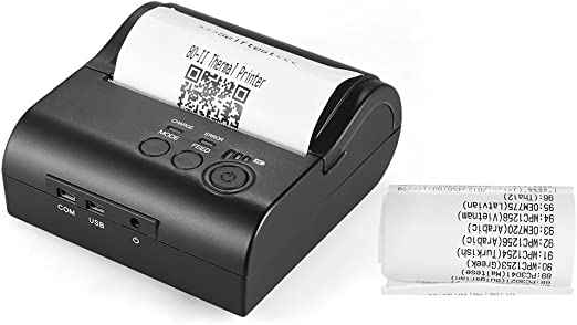 Aibecy POS-8001DD 80mm Mini Portable Wireless Thermal Printer Receipt Bill Ticket POS Printing for Android iOS Windows