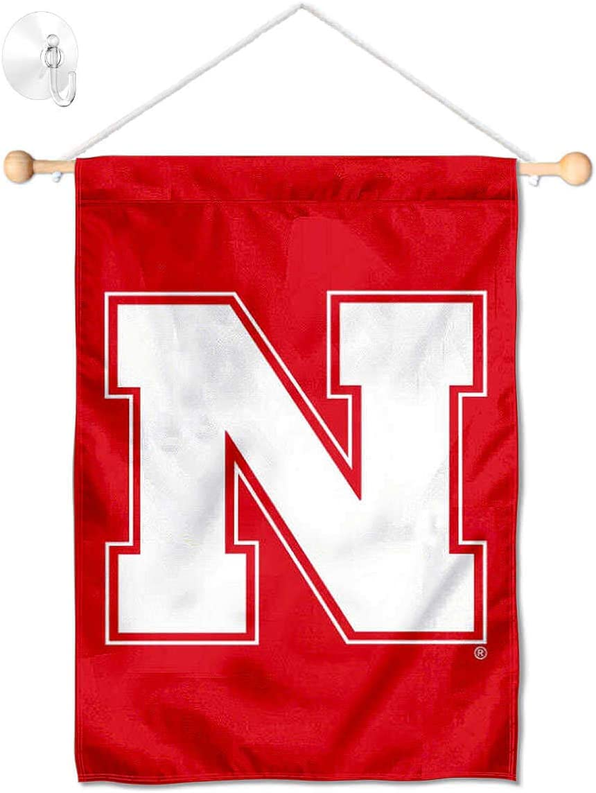 Nebraska Cornhuskers Iron N Banner for Windows Doors and Walls