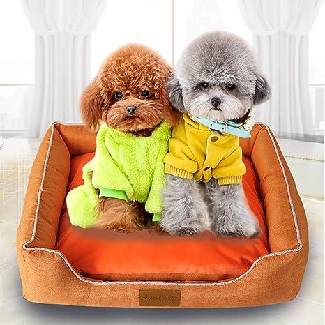Cama para Perros Gato Cesta Mascotas Pequeña Medio Grande Lavable,L:65 * 55