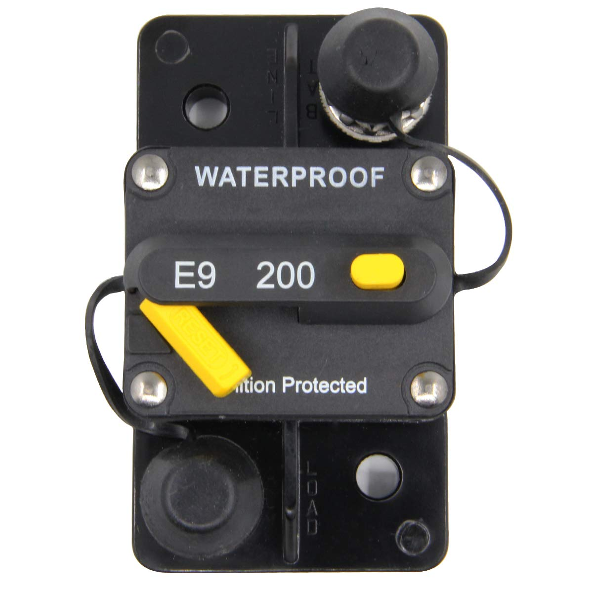 RKURCK 12V-32V DC 10A Circuit Breaker Fuse Inverter Fuse holder with Manual Reset Button for Auto Truck RV Marine Trailer Waterproof