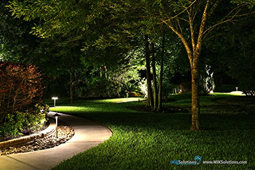 LED Pathway Light by MIK Solutions LED BULB Solid Brass Low Voltage LED Light Outdoor Landscape Mushroom Security Garden Light for Beautiful Bright Long Lasting Home Patio Deck Pool Area