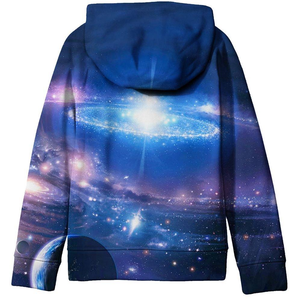 SAYM Big Girls Youth Galaxy Teen Fleece Full Zip Jackets Pullover Hoodies