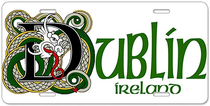 Vanity Tag Front License Plate Dublin Aluminum License Plate CafePress