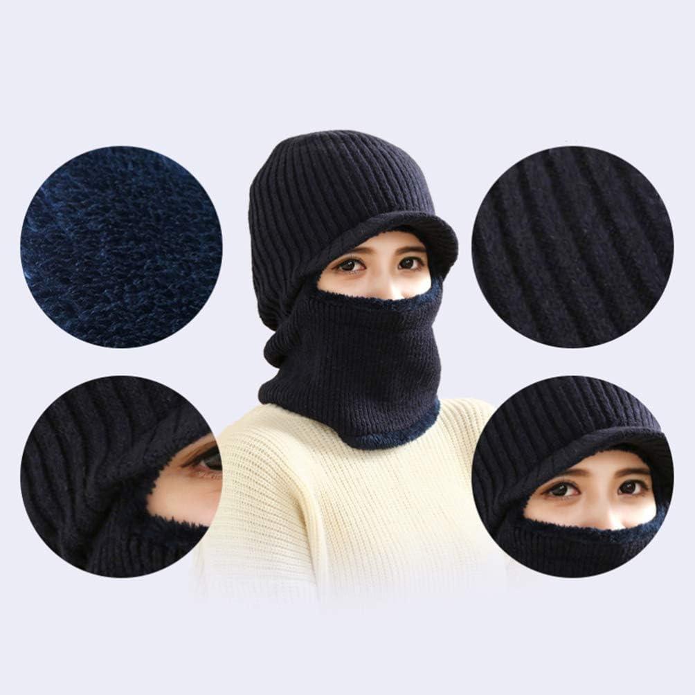 VORCOOL Sombrero m/áscara de Invierno Hecho Punto a Prueba de Viento para Hombres Mujeres Negro