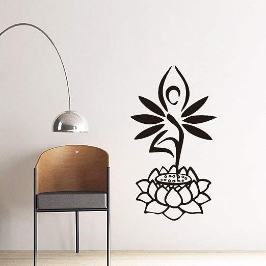 Galería de yoga Etiqueta de la pared de pie de loto Galería ...