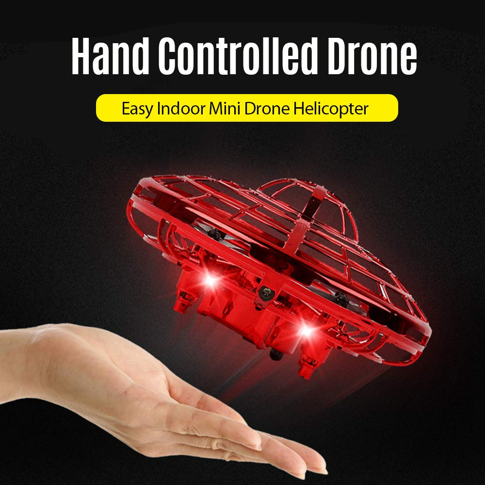AIRTIME HAND-CONTROLLED FLYING MINI-DRONE (AGES 5 ) (RED by AIRTIME HAND-CONTROLLED FLYING MINI-DRONE (AGES 5 )