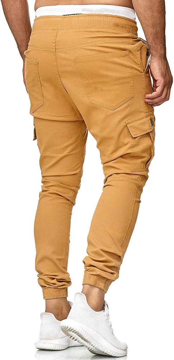 Compre Pantalones Para Hombre Moda Casual Hombres Deporte Pantalones Largos Chándal Joggers Gimnasio Pantalones De Entrenamiento Pantalones De Chándal