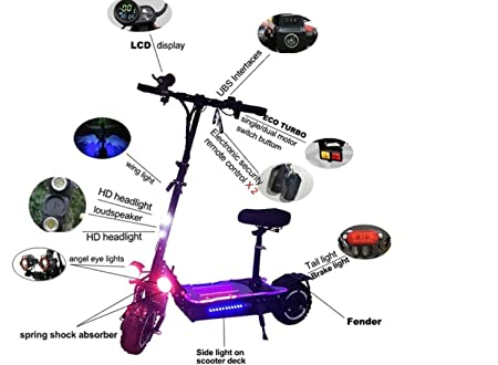 Amazon.com: OUTSTORM 56MPH Very High Speed Electric Scooter ...