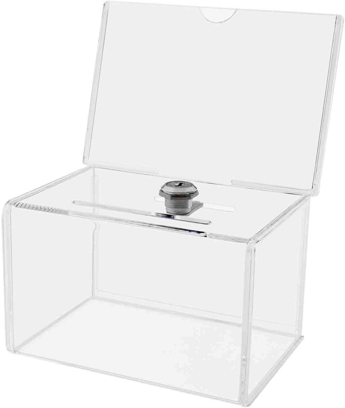 Deflect-o - Caja para sugerencias o propinas (con cierre), transparente