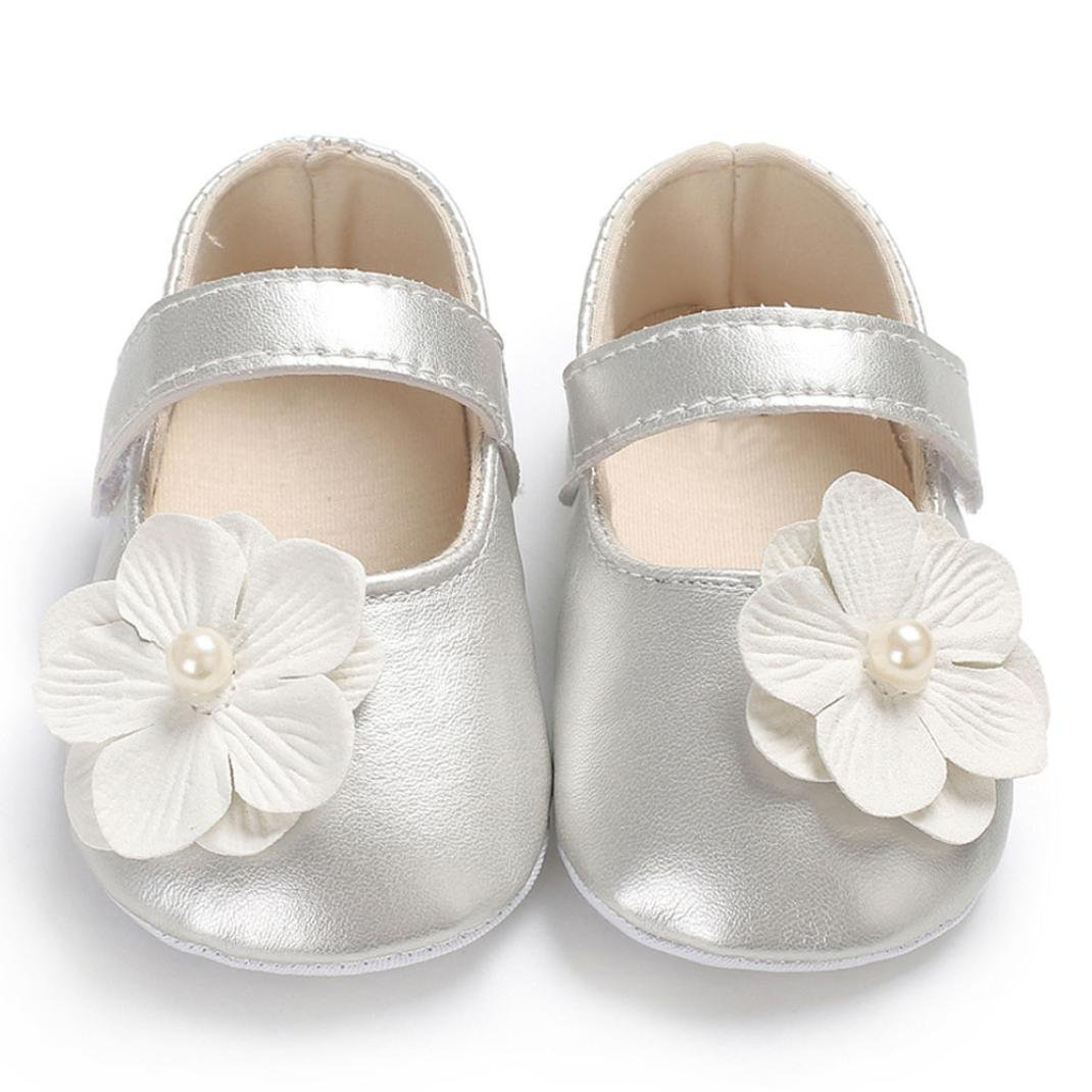 Lanhui Toddler Baby Girl Sandals Flower First Walker Anti-Slip Crib Shoes Dance