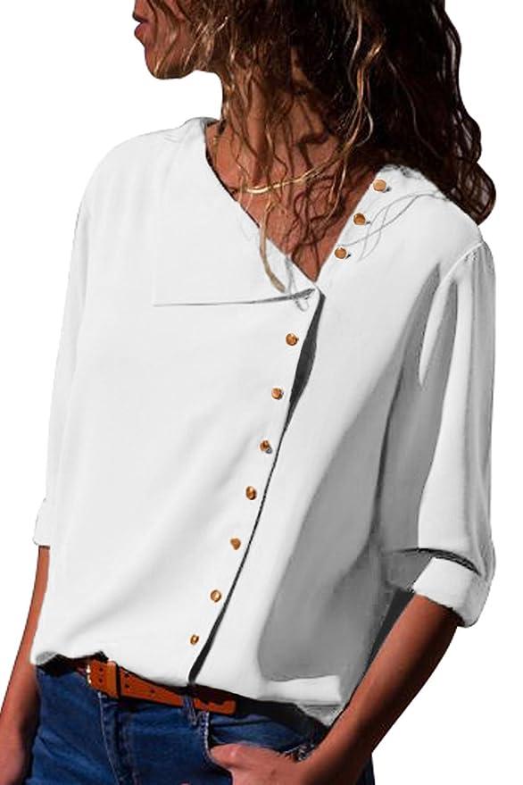 17 opinioni per Aranmei Donna Camicetta Blusa Chiffon Elegante Camicia Maniche Lunghe Chiusura a
