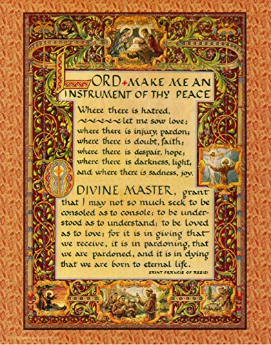 picture regarding St Francis Prayer Printable identified as Desiderata Gallery Straightforward Prayer Pope St. Francis of Assisi Good Artwork Print, 11 X 14 Archival Card Paper